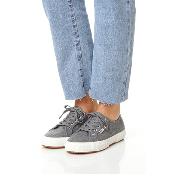 Superga Shoes | Gray 2750 Wool Sneakers